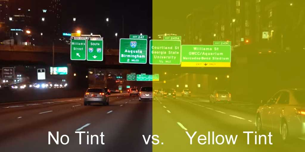 clear lenses versus yellow tinted lenses for night driving
